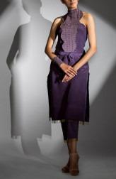 ceaa7805479641 Indian Fashion Designers - Shruti Singla - Contemporary Indian Designer - Off  Shoulder Shirt In Bandhgala