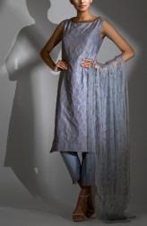 c14262fae69827 Indian Fashion Designers - Shruti Singla - Contemporary Indian Designer -  Zari Work Kurta With Tasseled