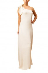 Indian Fashion Designers - Siddartha Tytler - Contemporary Indian Designer - One Shoulder Ivory Gown - ST-AW16-MS16-GWN-002