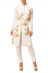 Indian Fashion Designers - Siddartha Tytler - Contemporary Indian Designer - Elegant Ivory Kurta - ST-AW16-MS16-KRTA-001
