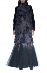 Indian Fashion Designers - Siddartha Tytler - Contemporary Indian Designer - Suede Neoprene Jacket Set - ST-AW17-JCKT-011-SKRT-004