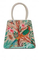 Indian Fashion Designers - Syuuta - Contemporary Indian Designer - Bird Print Mama Mia Hangbag - SYK-AW16-SY013