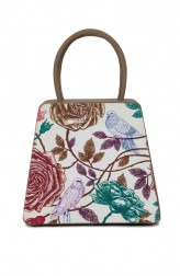 Indian Fashion Designers - Syuuta - Contemporary Indian Designer - Floral Printed Mama Mia Hangbag - SYK-AW16-SY020