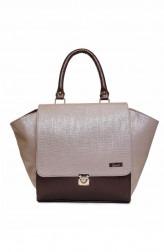 Indian Fashion Designers - Syuuta - Contemporary Indian Designer - Golden Brown Miami Wings Handbag - SYK-AW16-SY030
