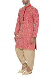 Indian Fashion Designers - WYCI - Contemporary Indian Designer - Reddish Pink Kurta - WYCI-SS16-S6KRs51Ad