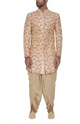 Indian Fashion Designers - WYCI - Contemporary Indian Designer - Pale Pink Sherwani - WYCI-SS16-S6SDs23FD