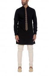 Indian Fashion Designers - WYCI - Contemporary Indian Designer - Black Formal Kurta - WYCI-SS16-W6KEc39D1e