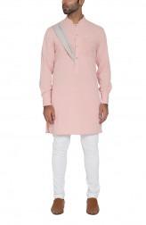 Indian Fashion Designers - WYCI - Contemporary Indian Designer - Dusty Pink Kurta - WYCI-SS16-W6KSg6Dr