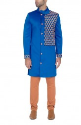 Indian Fashion Designers - WYCI - Contemporary Indian Designer - Striking Blue Sherwani - WYCI-SS16-W6SSc8Hx