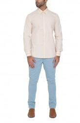 Indian Fashion Designers - WYCI - Contemporary Indian Designer - Hazelnut Cream Shirt - WYCI-SS16-W6StEc140