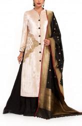 Indian Fashion Designers - Zainah By Pooja Khokha Arora - Contemporary Indian Designer - Velvet Jacket Kurta - ZIA-SS17-VE08
