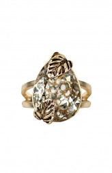 Indian Fashion Designers - Nine Vice - Contemporary Indian Designer - Gold Tones in Statement Ring - NIV-SS20-A-R1