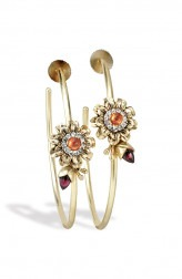 Indian Fashion Designers - Nine Vice - Contemporary Indian Designer - Summer Flower hoops - NIV-SS20-SS-E6