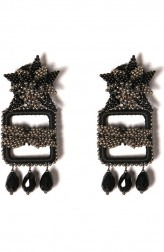 Indian Fashion Designers - Vaidaan Jwellery - Contemporary Indian Designer - Tamas Earrings - VJ-SS19-VAI00RE17