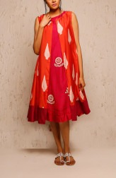 Indian Fashion Designers - Myoho - Contemporary Indian Designer - Fia Dress - MYO-SS17-1134-1131