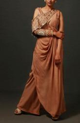 Indian Fashion Designers - Nidhi Singh - Contemporary Indian Designer - Embellished Drop Shoulder Dress - NDC-SS17-NIDSS061