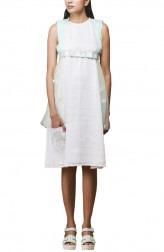 Indian Fashion Designers - Pushpak Vimaan - Contemporary Indian Designer - Classy White Linen Shift Dress  - PV-SS16-PV-CL2-10