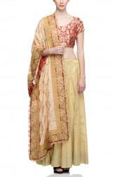 Indian Fashion Designers - Rang - Contemporary Indian Designer - Timeless Gold Lehenga - RNG-AW16-2-060