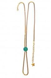 Indian Fashion Designers - Rejuvenate Jewels - Contemporary Indian Designer - Turquoise Coin Anklet - RJJ-SS16-RJMAL17