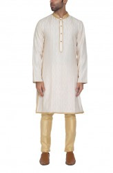 Indian Fashion Designers - WYCI - Contemporary Indian Designer - Splendid Off-white Kurta - WYCI-SS16-S6KSs35