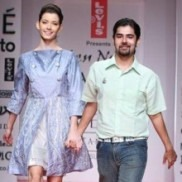 Indian Designer Anand Bhushan on the ramp