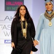 Indian Jewelry by designer Nitya Arora for her brand Valliyan on the ramp