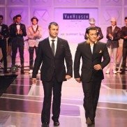Indian Fashion Designer Ashish Soni and Salman Khan on the ramp