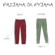 Menswear- Pyjama or Paijama