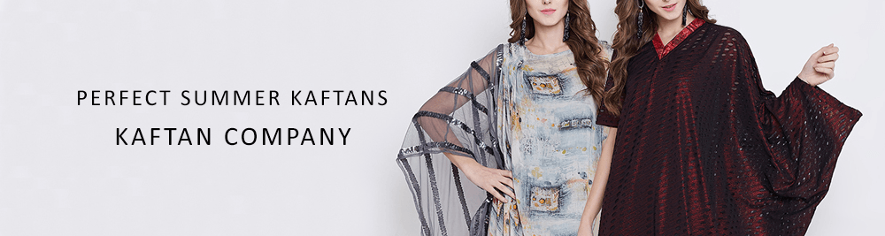 Buy Indian Cotton, Printed and Embroidered Kaftans