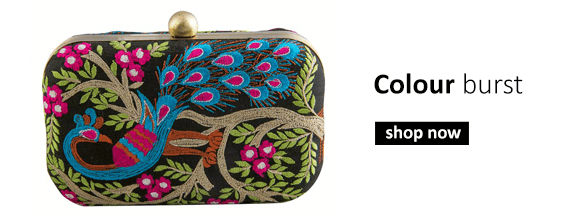 Buy designer evening clutch bags, metal bags, embroidered clutches