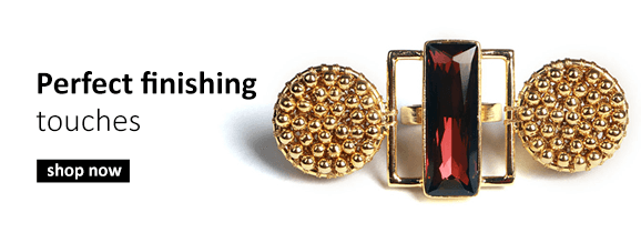 Shop Indian designer jewellery including earrings, rings, necklaces and head pieces