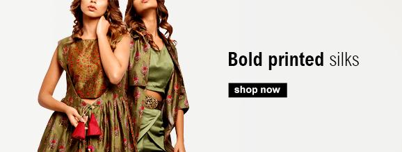 Buy Indian Silk Dresses including Banarsi brocade dresses and Jackets