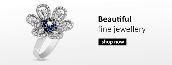 Buy Diamond jewellery including emerald encrusted engagement rings and party rings