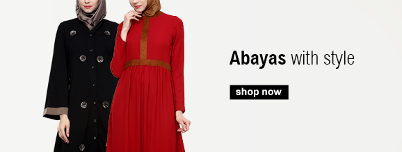 Buy Abayas from India including embroidered and draped styles