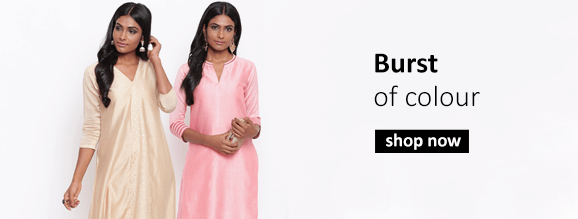Buy contemporary Indian designer tunics, tops in vibrant and bold colours for the season