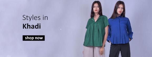 Buy Indian khadi fabric tops and tunics