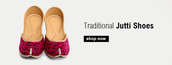 Buy Traditional Indian Shoes and Indian style Jutti shoes with Embroidered detailing