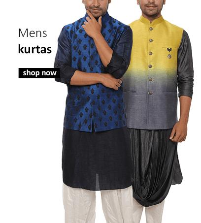 Buy Indian mens kurtas, ombre kurtas, silk kurtas and embroidered kurtas