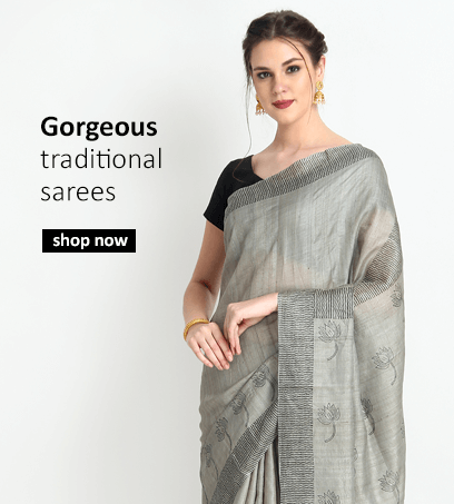 Buy Indian Sarees including Handloom Sarees from Indian fashion designers