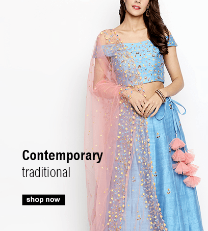 Buy Indian Lehengas in Pastel colours for the summer including Weddings Lehengas
