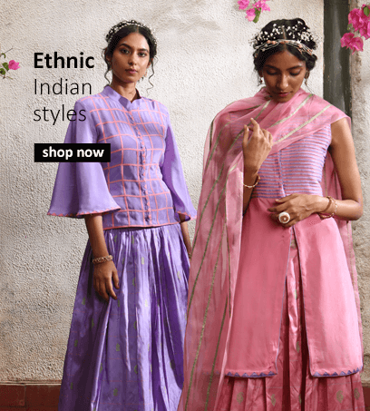 Buy vibrant Indian designer clothes for women including salwar suits, lehengas and anarkalis