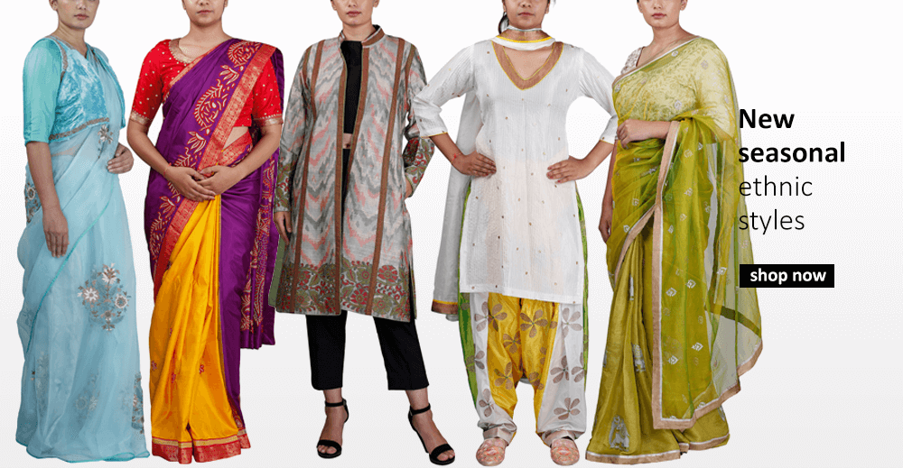 Buy traditional Indian designer styles for women including patiala suits, lehengas, anarkalis and salwar suits