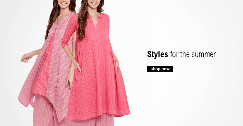 Buy Summer Indian Dresses including Pink Traditional Indian Dresses and Contemporary Indian Dresses