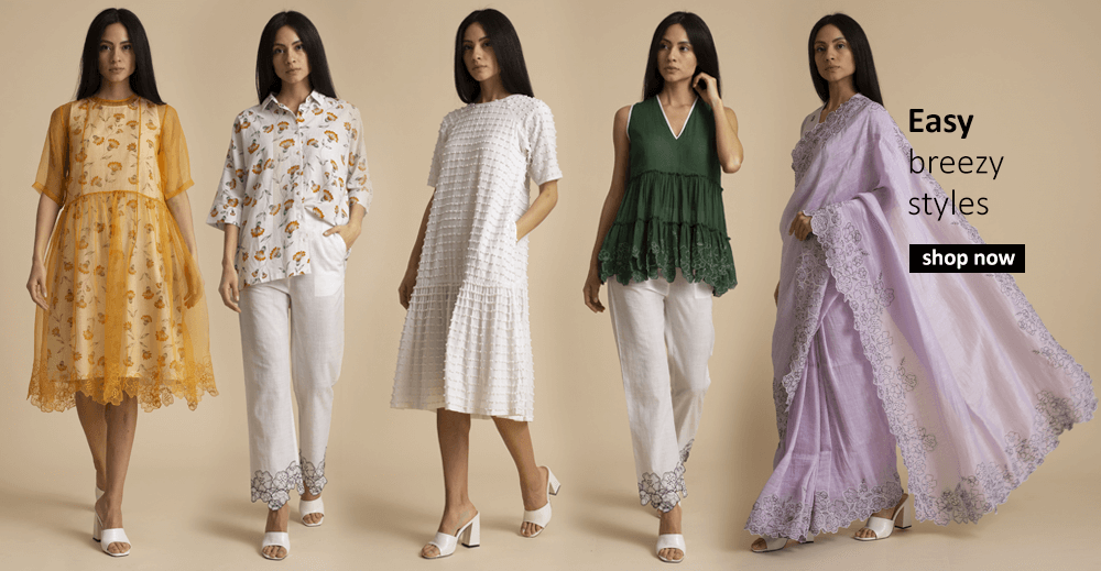 Buy dresses, tops, tunics for women from indian fashion designers including kanelle