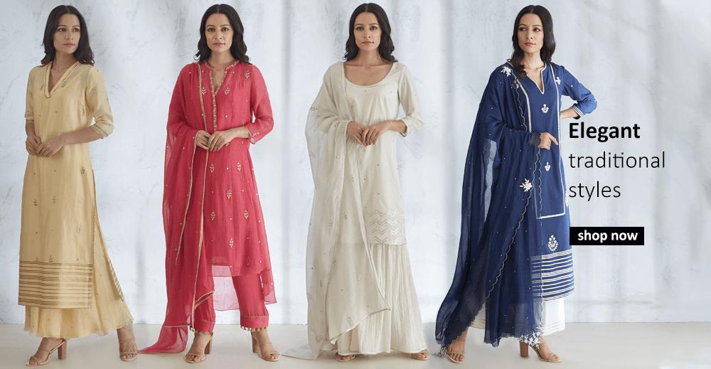 Buy elegant traditional indian designer styles for women including salwar suits