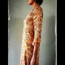 Cutwork Detailed Copper Toned Dress by Abraham & Thakore