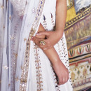Handcrafted Detailing on a White Anita Dongre Lehenga