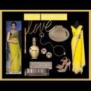 Bright yellow shaded saree by Designer Raakesh Agarvwal