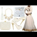 Cream coloured Jacket and Skirt by Indian Designers SVA