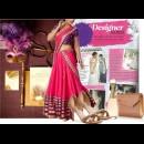 Indian Designer Neha Gursahani presents a purple and pink wedding lehenga